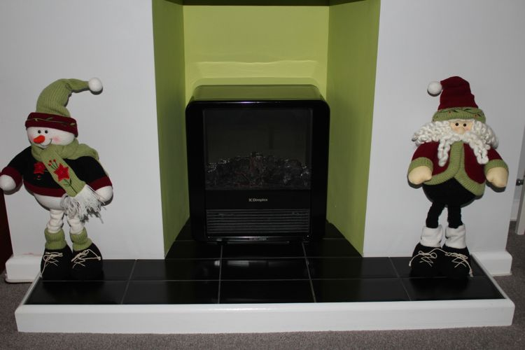 fireplace at xmas