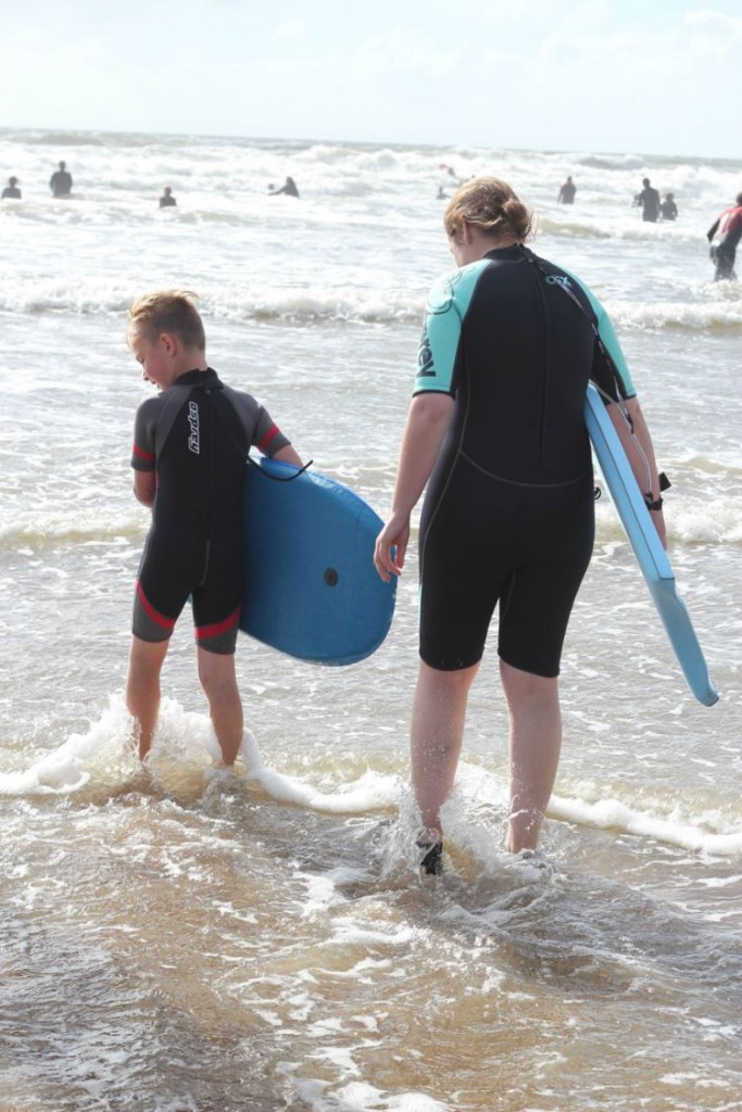 My tip for the day - don't allow yourself to be photographed in a wetsuit. Especially standing next to skinny nephews! But I don't care that I am not a size 6 supermodel. Im not going to let it stop me from having fun! (And sharing a photo of my huge arse on the inter webs!)